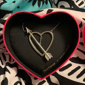 Juicy Couture Heart and Arrow Pendant Necklace